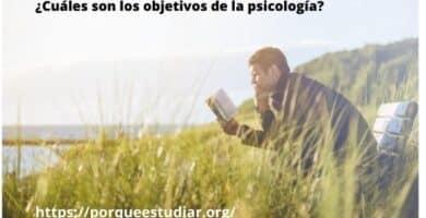 Psicologia - ¿Cuáles son los objetivos de la psicología?